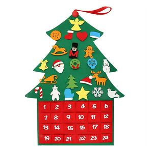 DIY Felt Christmas Tree Table Decoration Best Gift for Children Felt xmas Tree Ornaments Christmas Tree Advent Calendar Ornament