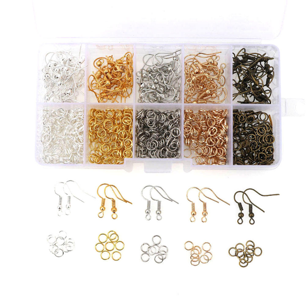 DIY Earrings Jewelry Making Kit Earring Hook Open Jump Rings Mixed Earring Findings Box Sets