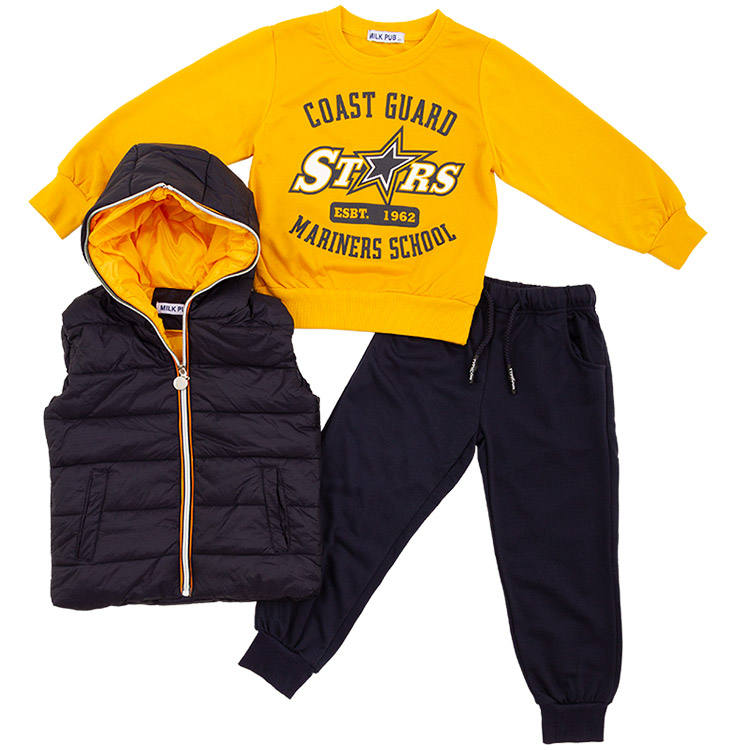 Most selling products wholesale outlet Italy designer boutique boy clothing children set for kids
