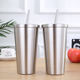 Reusable Custom 16oz Stainless Steel Tumbler Cups Wholesale Insulated Tumbler Vacuum Coffee Mug Cups With Lids and Straw
