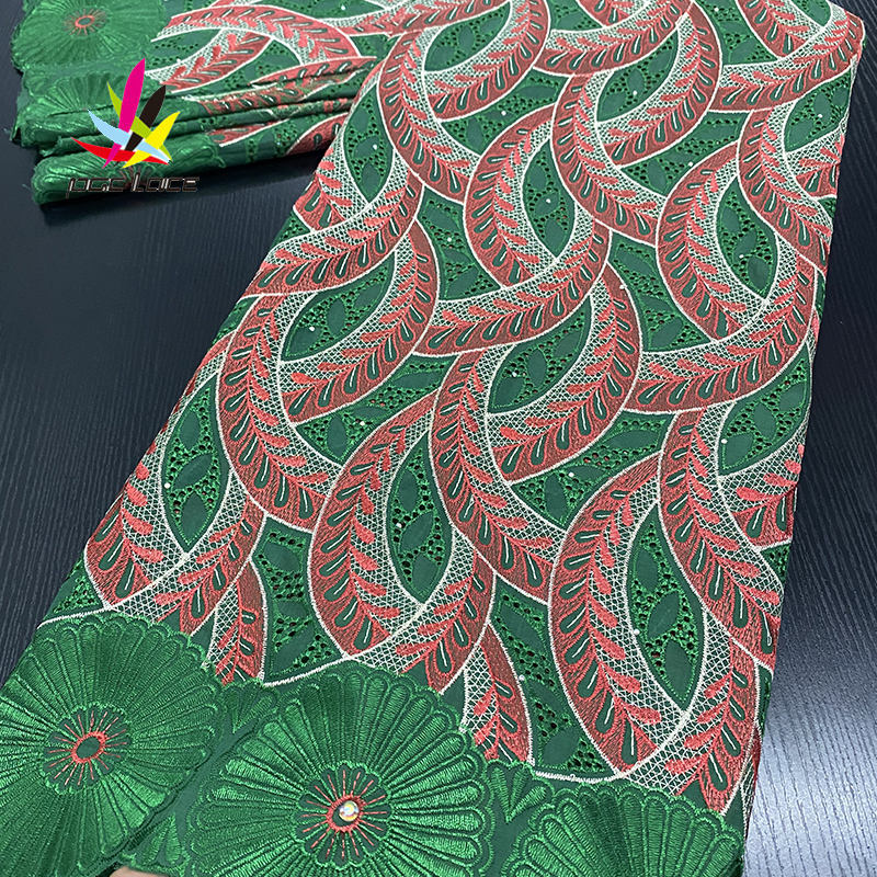 African In Switzerland High Quality Heavy Latest Design Swiss Voile Lace Fabric