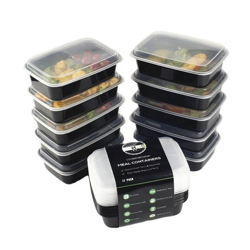 BPA-Free Reusable Microwavable Meal Prep Food Storage Plastic Food Containers