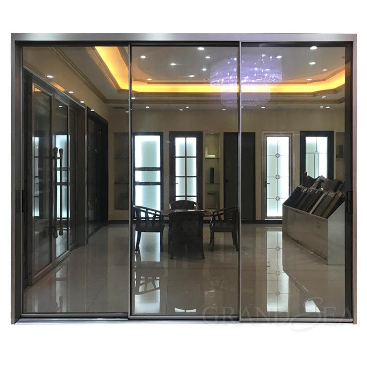 American Style Factory Outlet Double Tempered Glass Aluminum Doors And Windows