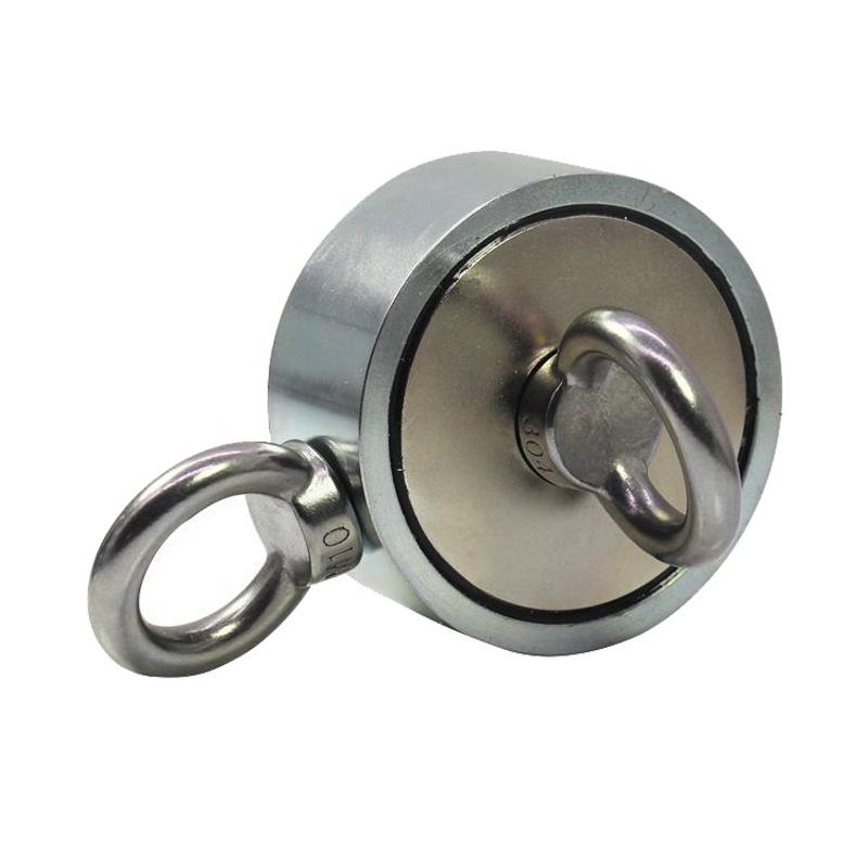 300KG Free Samples Double Side Neodymium Fishing Magnet With Rope