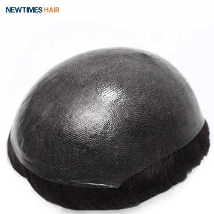 INS newtimeshair injected super thin skin men human hair toupee hair replacement system wigs
