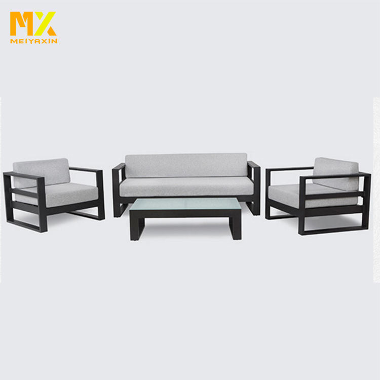 Outdoor corner waterproof sectional sofa UV protection aluminum garden sofa