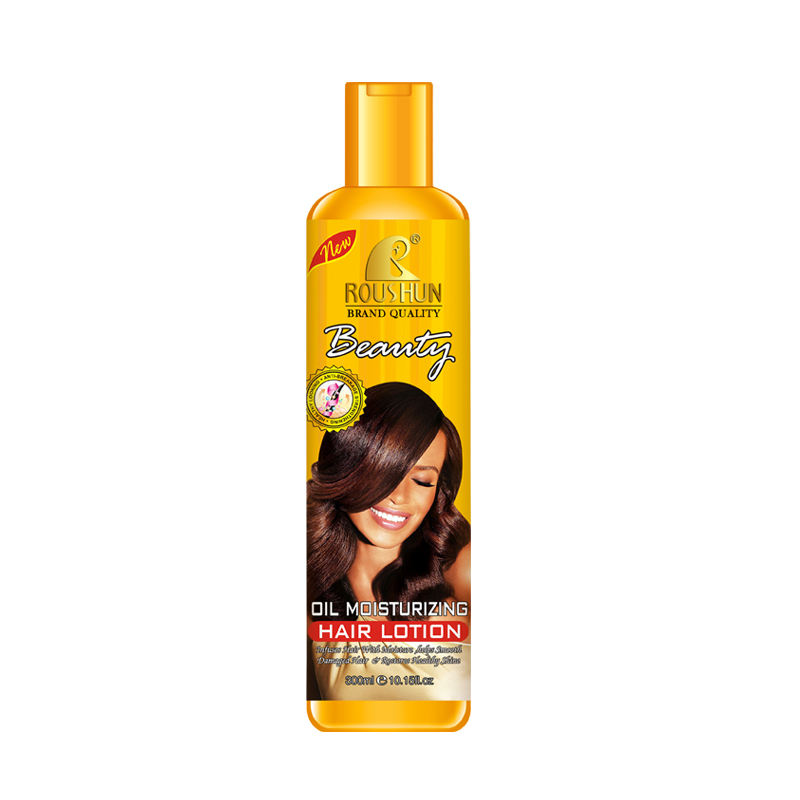 ROUSHUN oil moisturizing hair lotion nourishing restores healthy shine helps repair damaged hair Shine Enhancing