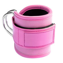 Custom PU Neoprene Pink Fitness Padded Gym Ankle Straps For Cable Machines