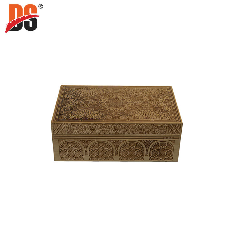 DS High Quality Maple Laser Engraving Wooden Gift Box Cidar Humidor Cigar Gift Box