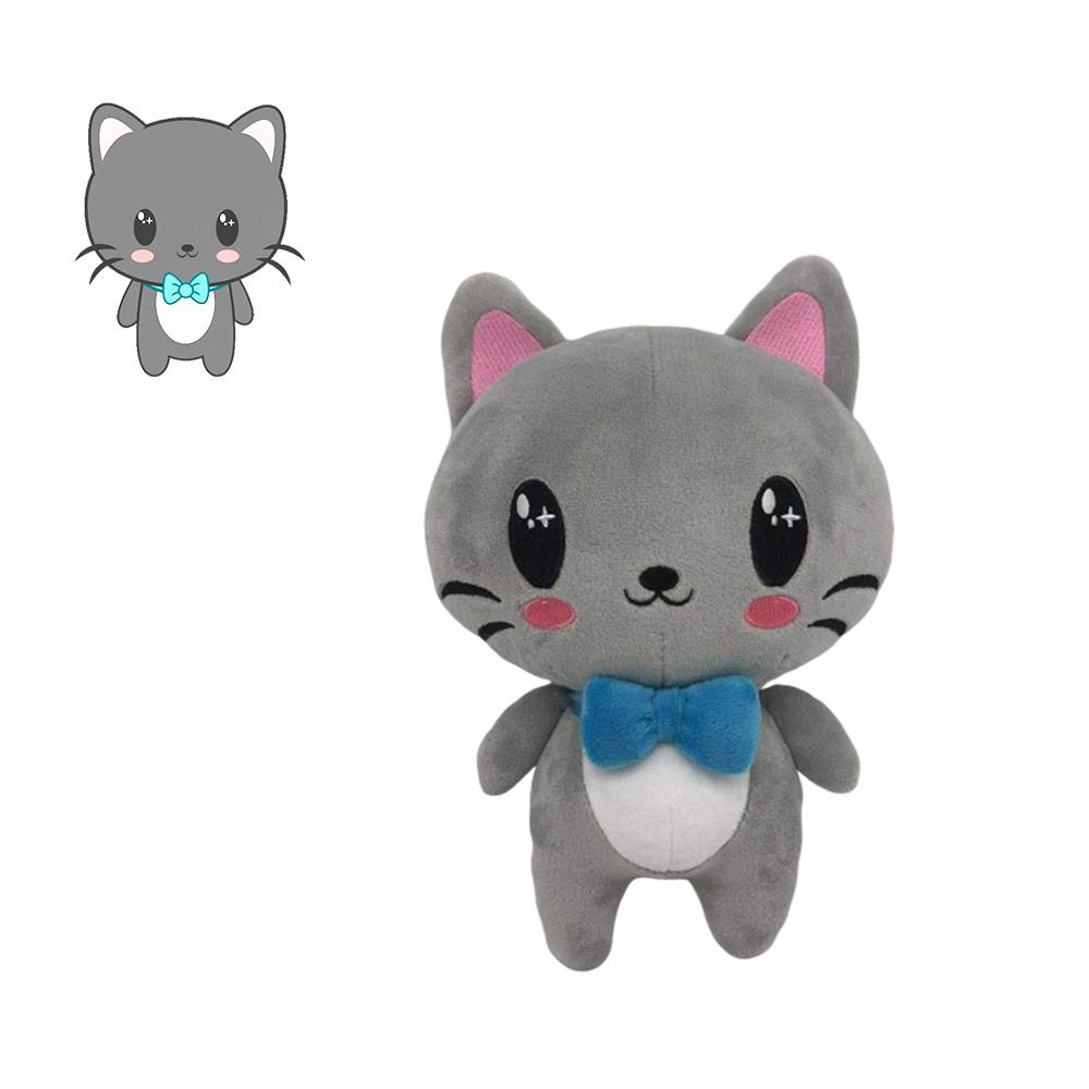 Zoo Animal Toys Custom Baby Anime Stuffed Cute for Claw Machine Cat Plush Toy