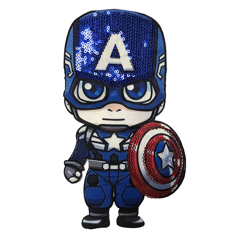 Graphic Customization [ Embroidery Iron Custom ] Iron On Embroidery Patch Wholesale Embroidery Patch Iron On Custom Sequin Superhero Patch Sequin Cartoon LOL Girl Patch LED For Children Clothing