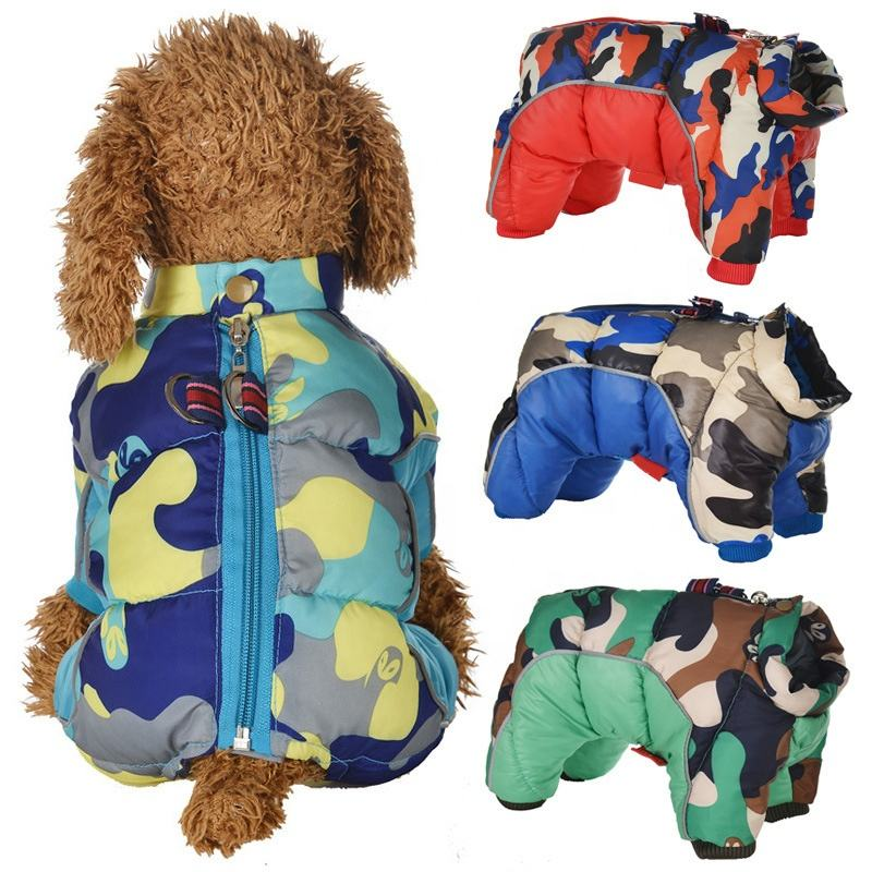 Professional Production Pet Dog Clothes Autumn/winter Camouflage Four-legged Cotton Clothes Wholesale