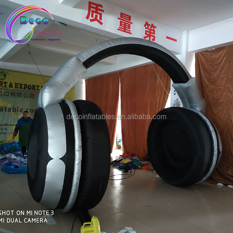 advertising promotional inflatable earphone arch