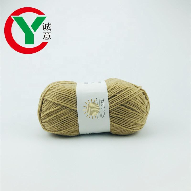 factory online wholesale hand knitting yarn 100%polyester crochet yarn
