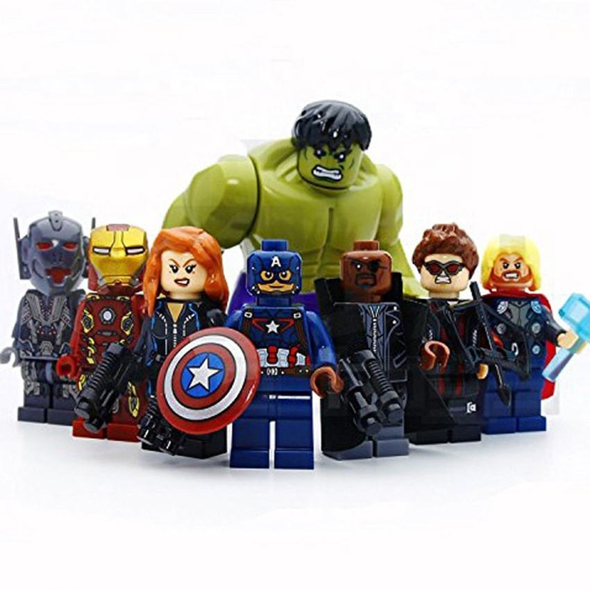8pcs/lot Super Hero Models & Building Blocks Toys Action Figure Model Toys collection wholesale