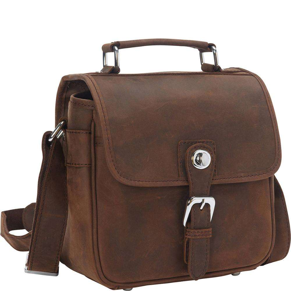 Vintage Full Grain Cowhide Leather Camera Bag DSLR Camera Bag