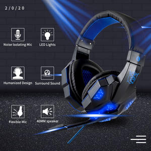 Professional Led Light Gamer headset adjustable bass stereo PC wired headset for computer PS4 gaming headset