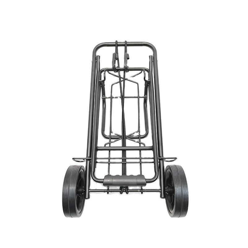 Folding Shopping Trolley Four Wheel for Luggage Grocery Supermarket Steel Shopping Carts