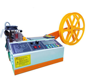 New Automatic Multifunctional computer hot and cold masking mask ear loop zipper webbing tape Cutting machine for sale stock