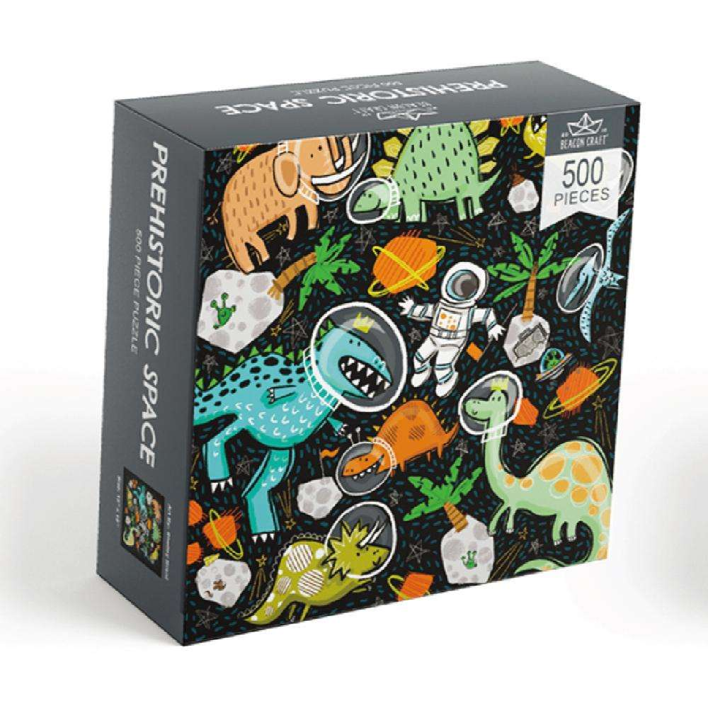 500 Pieces Prehistoric Space Puzzle Jigsaw
