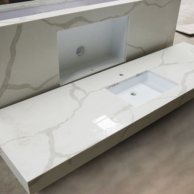 Wholesale Stone Marble Acrylic Resin Solid Surface Vanity Top For Kitchen