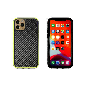 Wholesale price grooved style carbon fibre gluing layer TPU cell phone case cover bumper for iPhone X XS
