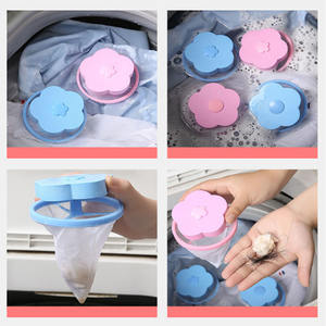 Dog Cat Fur Pet Fur Hair Remover Floating Filter Bag For Laundry Washing Machine