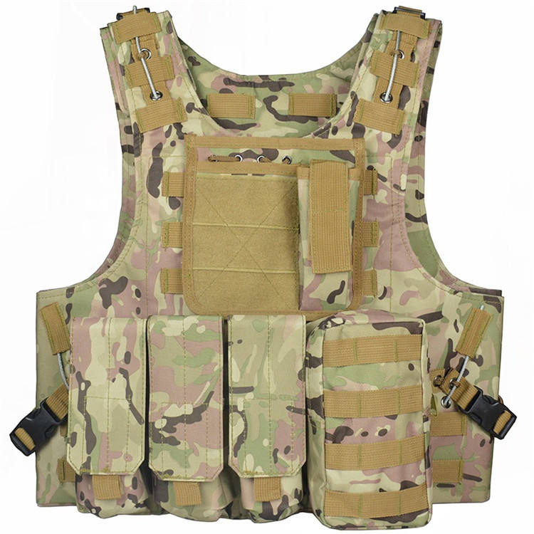 Adjustable bulletproof plater carrier army training hiking vest military tactical vest
