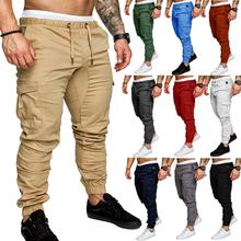 2020 Most popular solid color  cotton men's casual trousers fashion men's slim pants