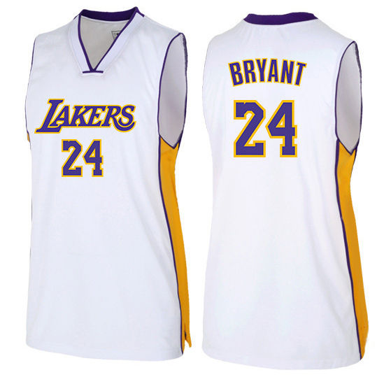 2014 <span class=keywords><strong>15</strong></span> Jour de noël maillot Los Angeles 24 Kobe Bryant Swing Blanc homme Autre jersey