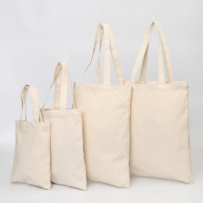 Cheap eco friendly Custom printed Logo Tote Shopping Bag Cotton Canvas Bag recycled grocery drawstring canvas bag