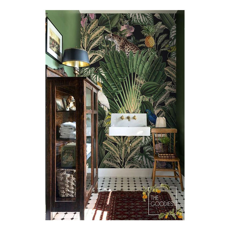 Hot Product 2020 Speciale Effect Wallpapers Custom Groene Jungle Bananenblad <span class=keywords><strong>3d</strong></span> Behang