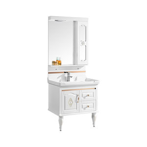 Customized bathroom vanity cabinet makeup furniture bath vanity with mirror