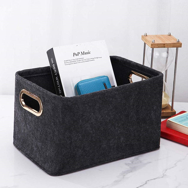 Sundries [ Wool Storage ] Handmade Wool Fabric Felt Bag Storage Basket Bin Container For Bedroom