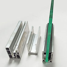 Customizable high quality aluminum alloy material u channel profile railing hardware