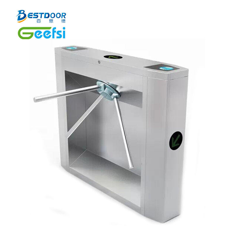 Economical Compact Design Turnstile Tripod RFID Drop Arm Access Control System for school