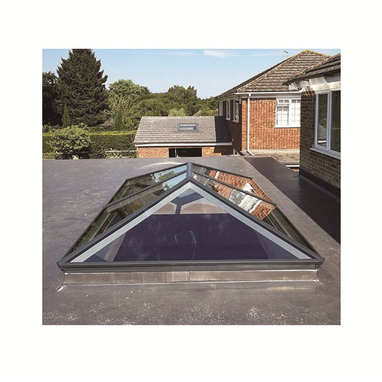 Topwindow Aluminium Frame Automatic Triangle Pyramid Skyview Roof Window Skylight