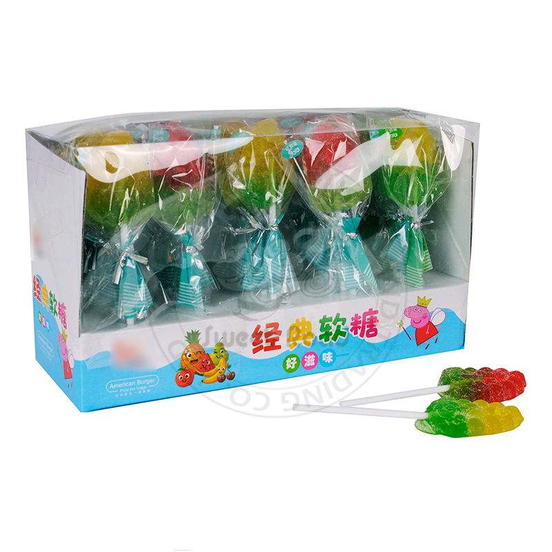 Fruity Grape Shaped Lollipop Candy Gummy Candy Jelly Candy