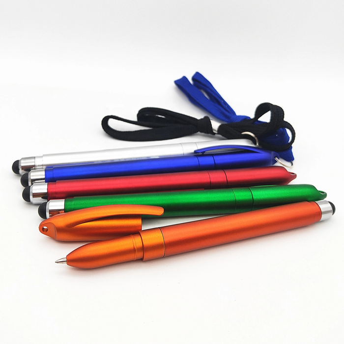 Personalize promotional roller paper pen with pull out paper lanyard hang pen