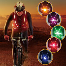 WARSUN R001 outdoor Led safety vest Bicycle Sports lighting night bike riding running Strap lights
