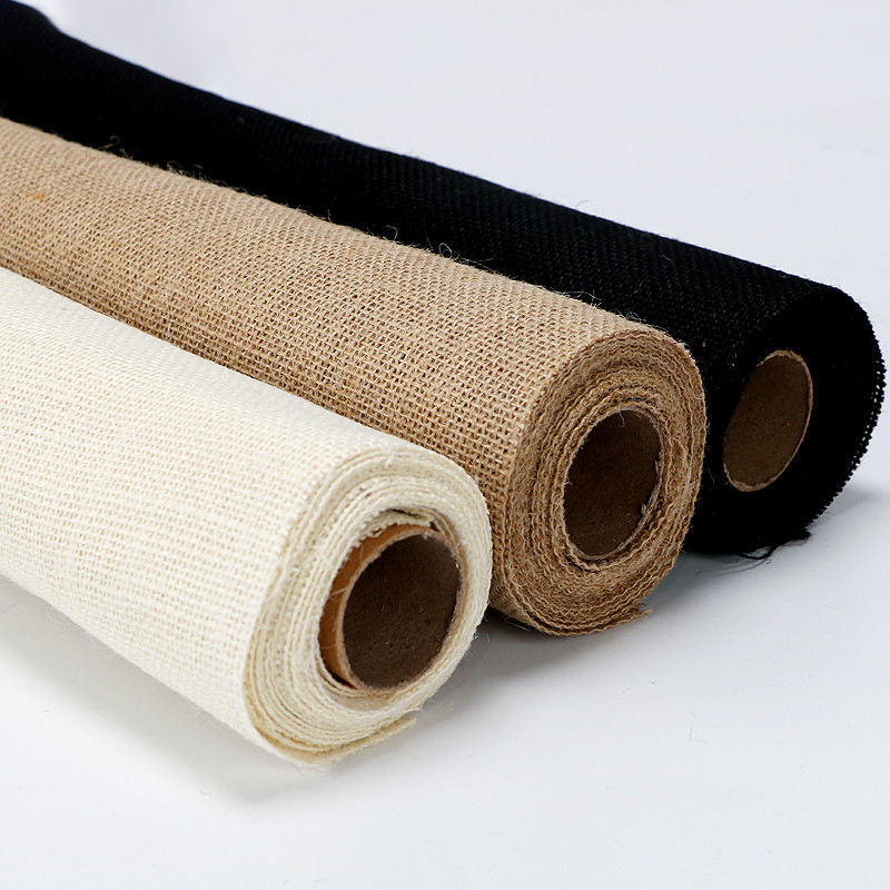 Hot sale Original color linen roll natural hemp flower packaging paper for flower paper packaging
