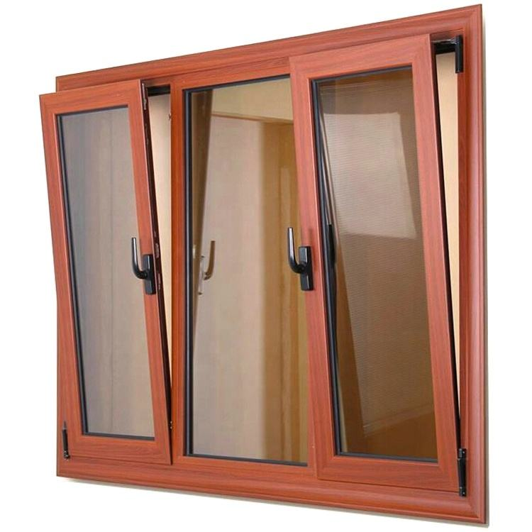 China suppliers aluminium profile double glazed doors tilt and turn windows