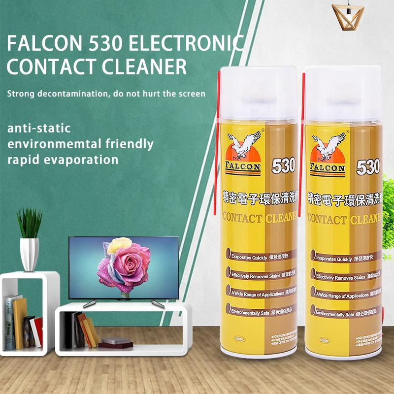 Electron Cleaner Falcon 530 Mobile Phone Screen Quick Dry Electronic Contact Cleaner Spray Cleaning Agent