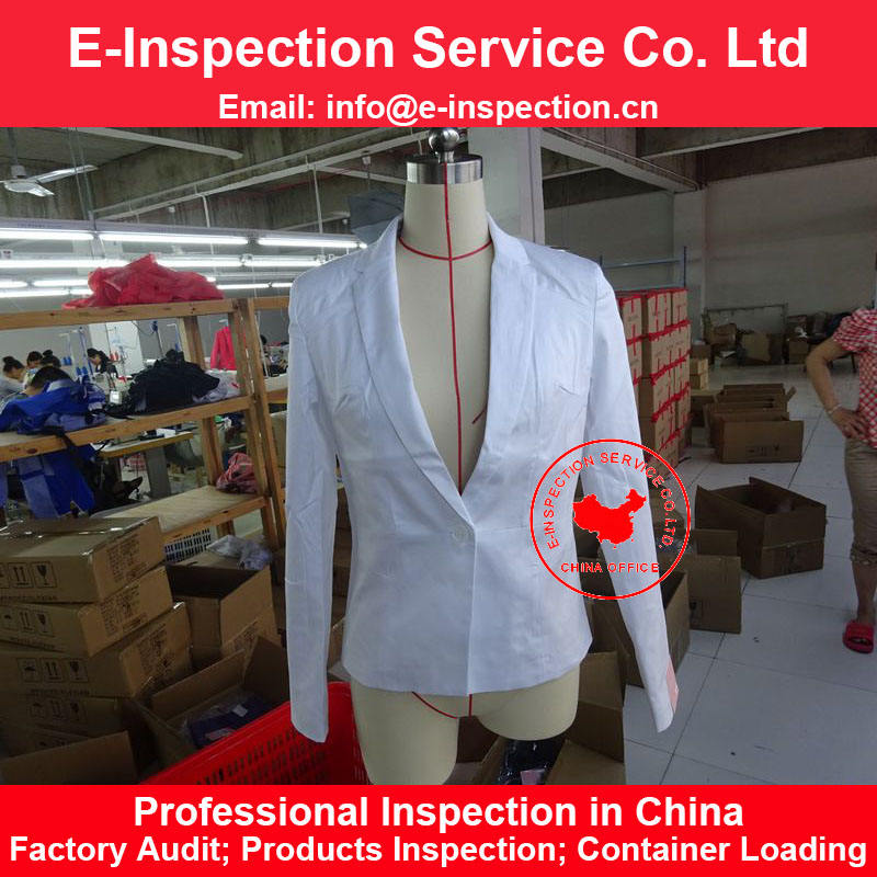 China Third Party during product Inspection final random Service clothing garment pre shipment inspection service