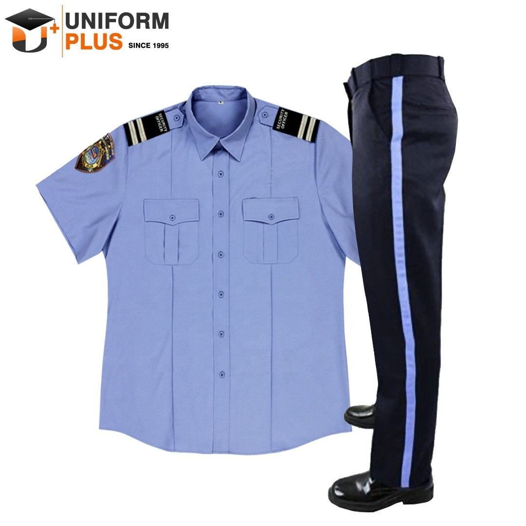 Wholesale design guard company officer dress shirt and trousers patrol set security uniform