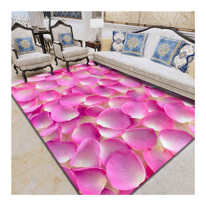 Premium OEM factory home decorative polyester printed area modern rug carpet for flooring