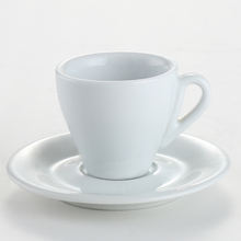 China porcelain custom printed espresso cups and causers for hotel