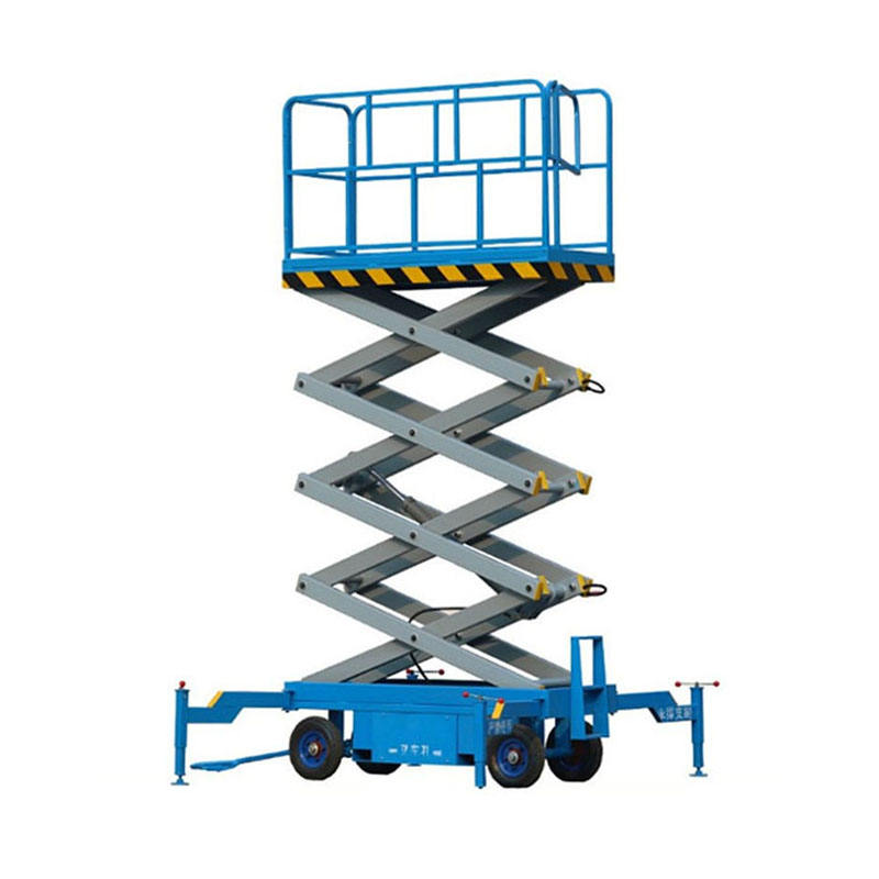 8m 9m 10m Hydraulic Mobile Aerial Work Platform Manlifts with CE