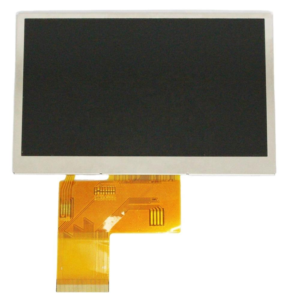 Shenzhen factory 4.3inch color TFT IPS ROHS LCD Display manufacturers oem high brightness with CTP RTP