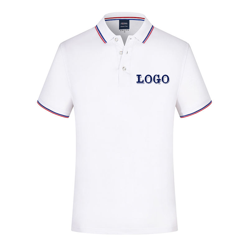 No MOQ wholesale high quality plain white mens clothing polo t shirt with printing logo